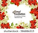 vintage delicate invitation... | Shutterstock . vector #586886315