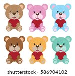 bear background with love and... | Shutterstock .eps vector #586904102