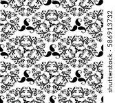 isolated damask seamless...   Shutterstock .eps vector #586913732