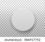 realistic 3d  gray blank... | Shutterstock .eps vector #586917752