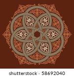 old rosette with  interweaving   Shutterstock .eps vector #58692040