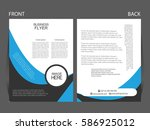 vector business flyer  magazine ... | Shutterstock .eps vector #586925012