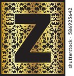stylized black letter z with... | Shutterstock .eps vector #586925642