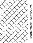 vector of wired fence with... | Shutterstock .eps vector #586929095