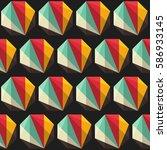 geometric hexagon seamless...   Shutterstock .eps vector #586933145
