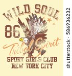 wild soul eagle style graphic... | Shutterstock .eps vector #586936232