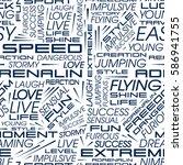 seamless pattern of words.... | Shutterstock .eps vector #586941755