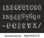 retro serif font part 3 3.... | Shutterstock .eps vector #586945475