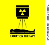 radiation therapy medical logo... | Shutterstock .eps vector #586945892