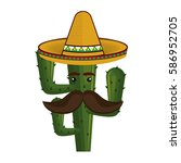 Animated Cartoon Cactus With...
