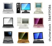 computer types icons photo... | Shutterstock .eps vector #586959386