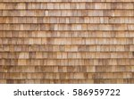 shingle wooden roof tile... | Shutterstock . vector #586959722
