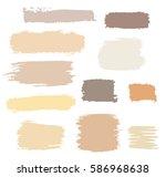 vector brush strokes of paint... | Shutterstock .eps vector #586968638