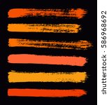 vector strokes of paint on... | Shutterstock .eps vector #586968692