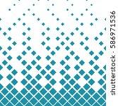 halftone blue diamond geometric ... | Shutterstock .eps vector #586971536