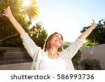 happy portrait of smiling older ... | Shutterstock . vector #586993736