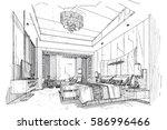 sketch streaks bedroom  black...   Shutterstock .eps vector #586996466