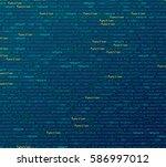 software   web developer... | Shutterstock .eps vector #586997012
