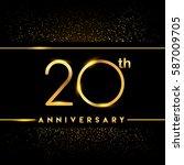 twenty years anniversary... | Shutterstock .eps vector #587009705