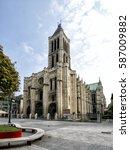 basilica of saint denis. paris  ... | Shutterstock . vector #587009882