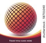 colorful digital globe design...   Shutterstock .eps vector #58701040
