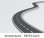 winding road isolated... | Shutterstock .eps vector #587011622