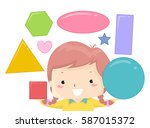 illustration featuring a cute... | Shutterstock .eps vector #587015372