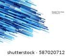 blue shiny hi tech motion... | Shutterstock .eps vector #587020712
