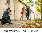 photographer and wedding | Shutterstock . vector #587020832