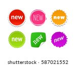 new vector sticker | Shutterstock .eps vector #587021552