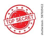 top secret stamp vector | Shutterstock .eps vector #587035412