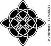 monochrome celtic pattern.... | Shutterstock .eps vector #587050358