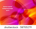 abstract colorful shiny... | Shutterstock .eps vector #58705279
