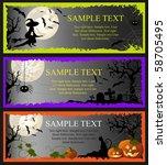 halloween. template banners. | Shutterstock .eps vector #58705495
