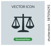 scale vector icon | Shutterstock .eps vector #587056292