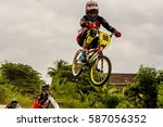 selayang  malaysia   12 feb... | Shutterstock . vector #587056352