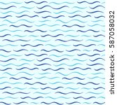 waves seamless vector pattern.... | Shutterstock .eps vector #587058032