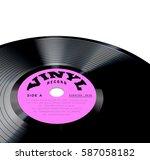 vinyl record vector... | Shutterstock .eps vector #587058182