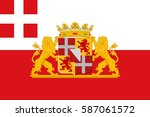 flag of utrecht is a province... | Shutterstock .eps vector #587061572