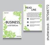 vector brochure flyer design... | Shutterstock .eps vector #587068772