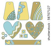collection with tags  hearts...   Shutterstock . vector #58707127