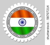 indian flag label   Shutterstock .eps vector #58707214