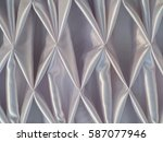 catch pleated fabric tied for... | Shutterstock . vector #587077946