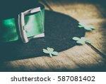 happy st. patrick's day... | Shutterstock . vector #587081402