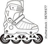 extreme sports roller skates of ... | Shutterstock .eps vector #58709377