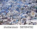air view on the chittorgarh... | Shutterstock . vector #587094782