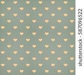seamless hearts polka dot... | Shutterstock .eps vector #587096522