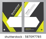 brochure design. corporate... | Shutterstock .eps vector #587097785