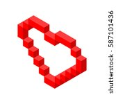 cube red abstract creative... | Shutterstock .eps vector #587101436