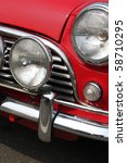 chromed grille   bumper and... | Shutterstock . vector #58710295